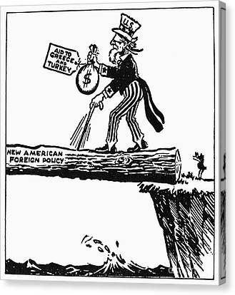 Truman Doctrine Cartoon Canvas Print by Granger