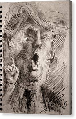Trump A Dengerous A-hole Canvas Print by Ylli Haruni