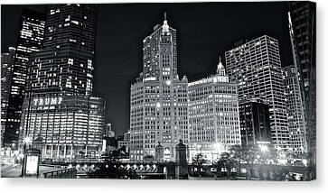 Trump Black And White Lights Canvas Print by Frozen in Time Fine Art Photography