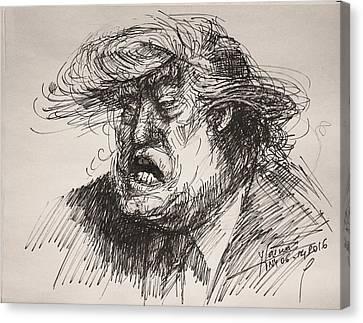 Trump Harmful Ignorant Canvas Print by Ylli Haruni