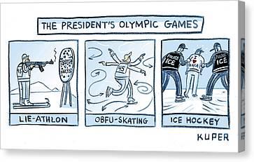 Trump Olympic Games Canvas Print