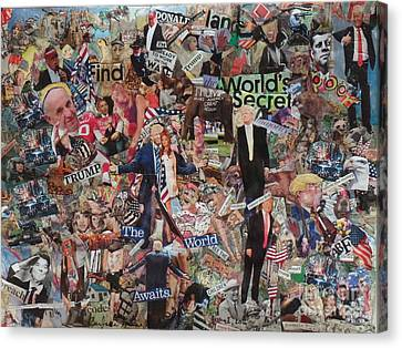 Trump Stirs Up The U.s. Elections Canvas Print