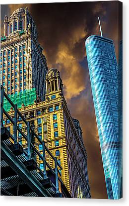 Trump Tower And The Jewelers Building Dsc4446 Canvas Print by Raymond Kunst