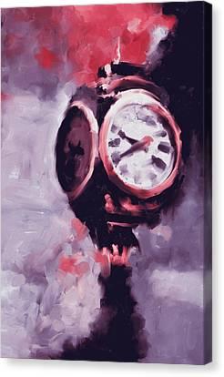 Trump Tower Clock Ny 563 2 Canvas Print by Mawra Tahreem