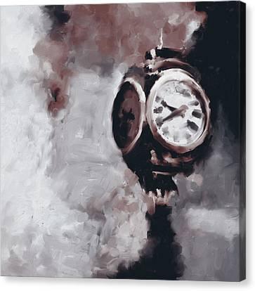 Trump Tower Clock Ny 563 4 Canvas Print by Mawra Tahreem
