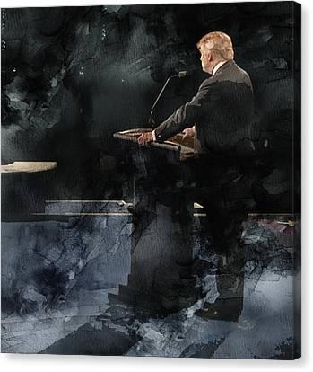 Celeb Canvas Print - Trump Vs Clinton 4 by Jani Heinonen