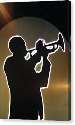 Trumpet - Classic Jazz Music All Night Long Canvas Print by Christine Till