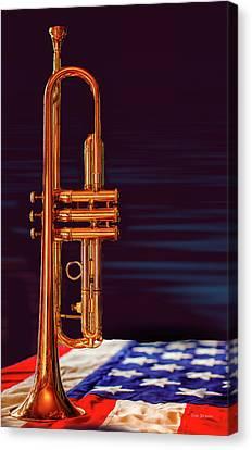 Trumpet-close Up Canvas Print by Tim Bryan