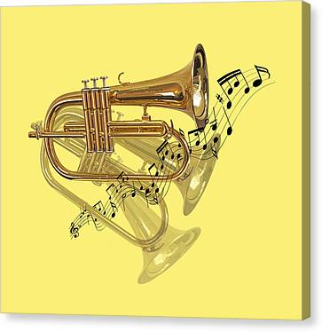 Concert Images Canvas Print - Trumpet Fanfare by Gill Billington