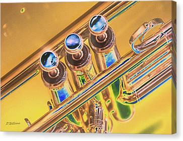 Trumpet Keys Canvas Print