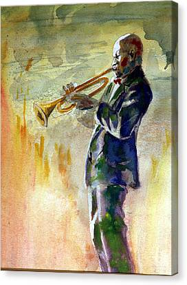 Trumpet Man Canvas Print