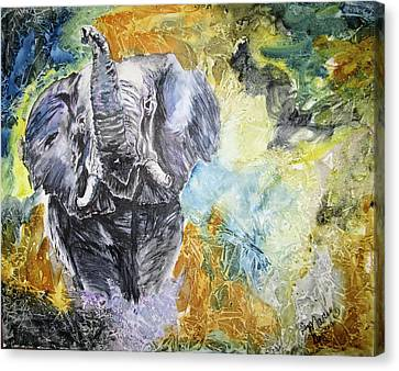 Trumpet Canvas Print by Maris Sherwood