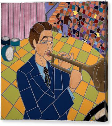 Trumpet Player Canvas Print by Jonathan Mandell