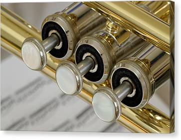 Trumpet Valves Canvas Print