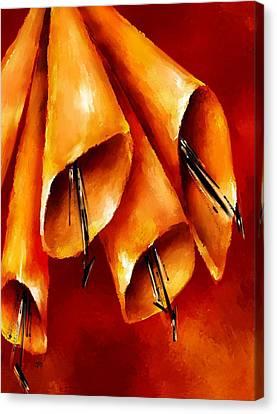 Trumpets Canvas Print by Brenda Bryant
