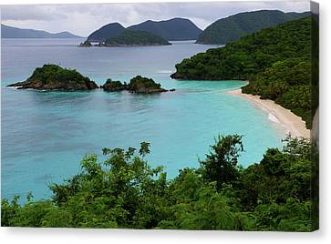 Canvas Print featuring the photograph Trunk Bay At U.s. Virgin Islands National Park by Jetson Nguyen