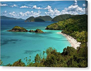 Trunk Bay Overlook Canvas Print by Harry Spitz
