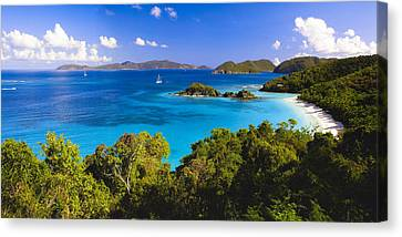 Trunk Bay Panorama Canvas Print by George Oze
