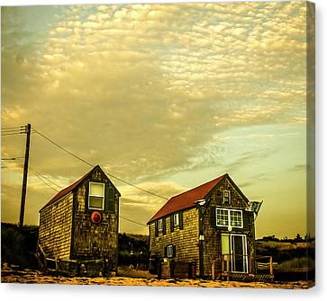 Truro Beach Houses Canvas Print by Frank Winters