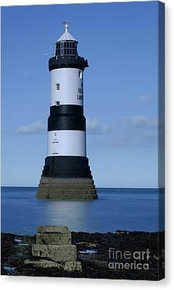 Trwyn Du Lighthouse Canvas Print by Steev Stamford