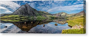 Cwm Idwal Canvas Print - Tryfan And Lake Ogwen by Adrian Evans