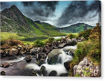 Tryfan And Ogwen Lake Canvas Print by Adrian Evans