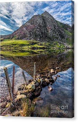 Cwm Idwal Canvas Print - Tryfan Reflections by Adrian Evans