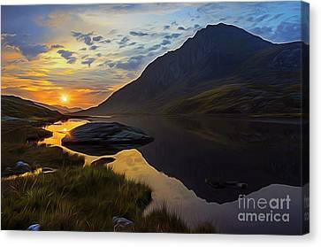 Mountain View Canvas Print - Tryfan Surnise by Ian Mitchell