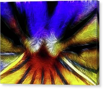 Trying To Fit Into A Size Two Canvas Print by Wingsdomain Art and Photography