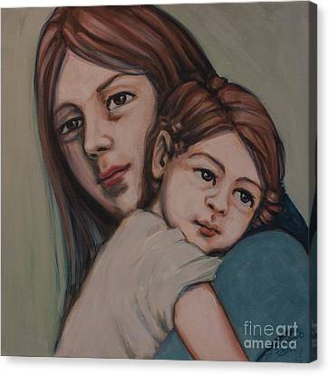 Canvas Print featuring the painting Trying To Remember by Olimpia - Hinamatsuri Barbu