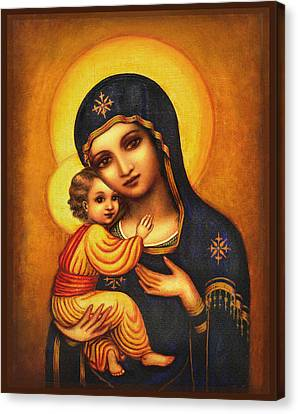 Tryptichon Madonna Canvas Print