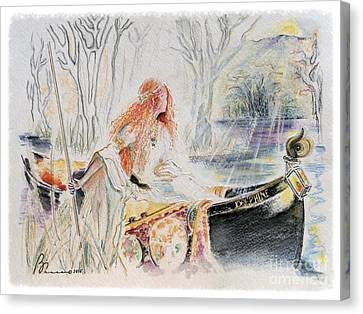 Tryst Canvas Print by Barbara Chase