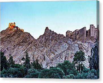 Tibetan Buddhism Canvas Print - Tsemo Fort - Ladakh by Steve Harrington