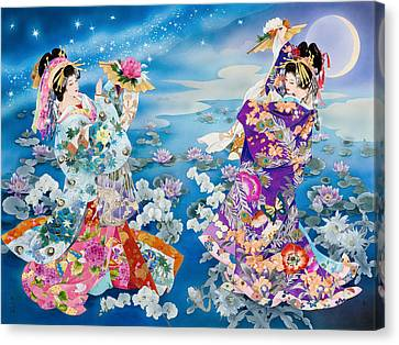 Figurative. Lady Canvas Print - Tsuki Hoshi by Haruyo Morita