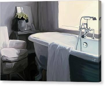 Tub In Grey Canvas Print by Patti Siehien