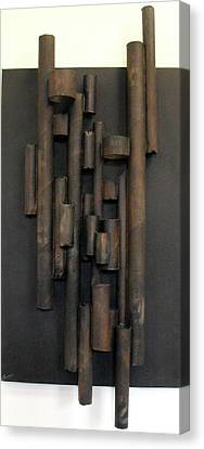 Cardboard Canvas Print - Tube by Ralph Levesque