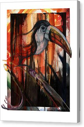 Canvas Print featuring the mixed media Tucan by Anthony Burks Sr