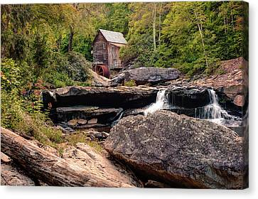 Old Mill Scenes Canvas Print - Tucked Away - Historic Old Mill Photography by Gregory Ballos