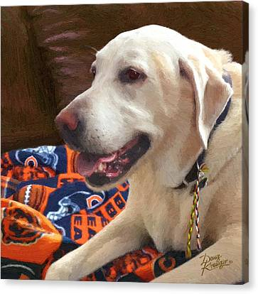 Canvas Print featuring the painting Tucker by Doug Kreuger