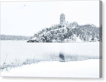 Tucker's Tower In Winter Canvas Print by Tamyra Ayles