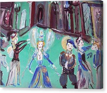 Tudor Fairies Canvas Print by Judith Desrosiers