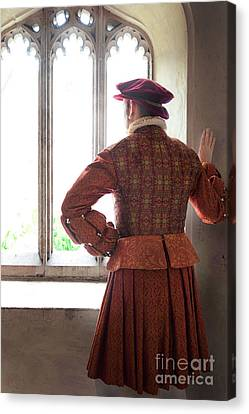 Canvas Print featuring the photograph Tudor Man At The Window by Lee Avison