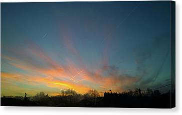 Canvas Print featuring the photograph Tuesday Sunrise by Anne Kotan