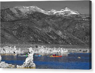 Tufa Towers At Mono Lake Canvas Print by Donna Kennedy