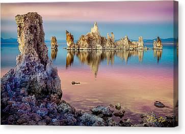 Canvas Print featuring the photograph Tufas At Mono Lake by Rikk Flohr