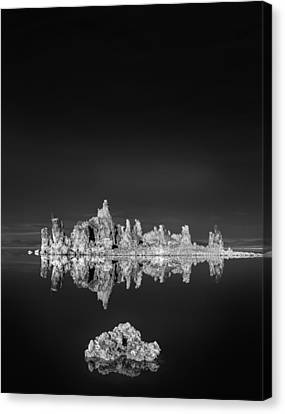 Tufas Reflecting In Mono Lake Canvas Print