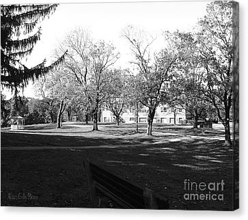 Tufts Educational Building Canvas Print by Allison Coelho Picone