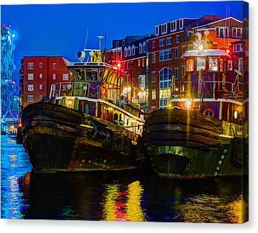 Tug Boat Alley 026 Canvas Print