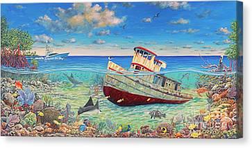 Tug Boat Reef 2 Canvas Print