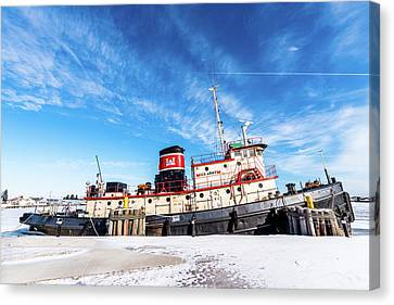 Canvas Print featuring the photograph Tug Ludington by Randy Scherkenbach